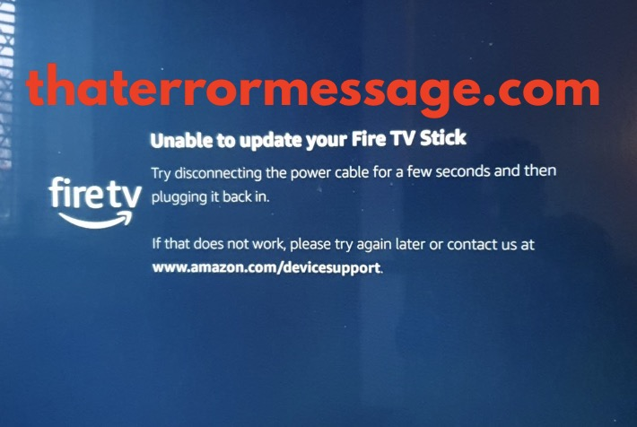 Unable To Update Your Verify Your Fire Tv Stick