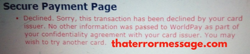 Transaction Has Been Declined By Your Card Issuer Access Bank