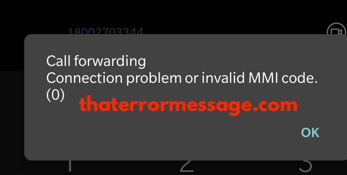 Call Forwarding Connection Problem Or Invalid Mmi Code Vodafone