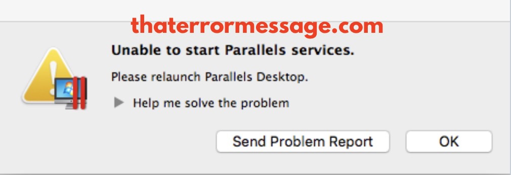 Unable To Start Parallels Services Macos