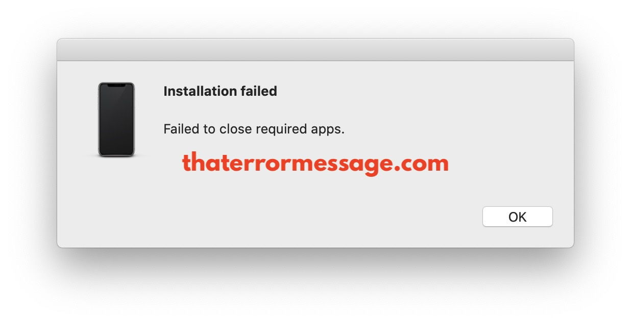 Installation Failed Iphone Itunes