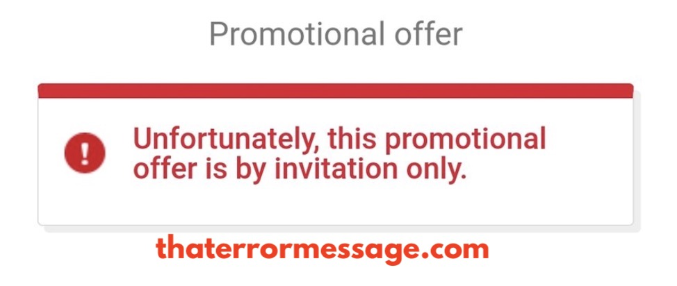 Promotional Offer Is By Invitation Only Ebay